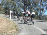 A group climbs Mt Hotham