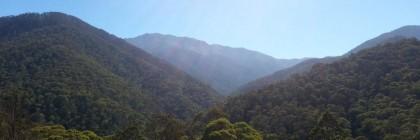 Sunlight on the mountains